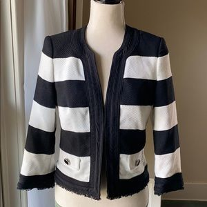 White House Black Market striped cropped jacket 6